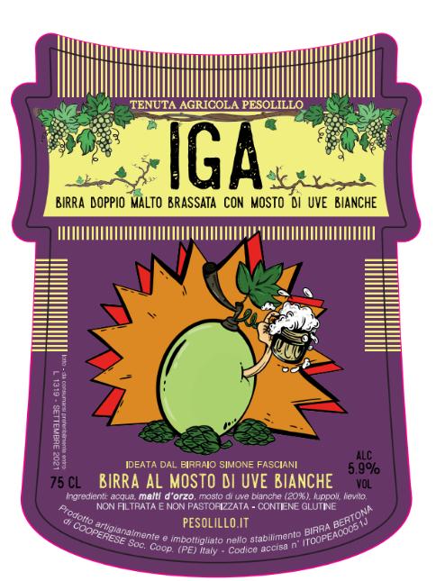 birra IGA doppio malto al mosto di uve bianche